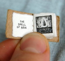 Miniature book art from Denver-based animator, illustrator, and graphic designer artandsuchevan.com