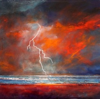 """Dramatic Lightning Skies"" Painting by Toni Grote From dailypainters.com"