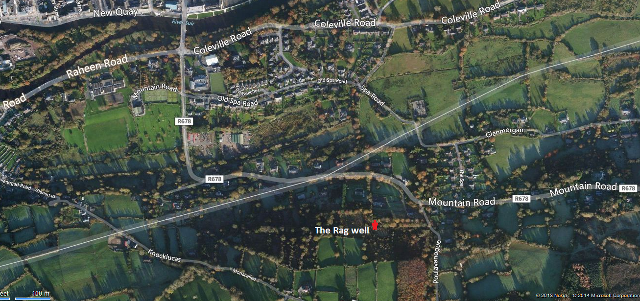 Location map of the rag well taken from Bing Maps